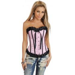 Rosa svart korsett