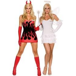 Maskeradkläder - Djävul och Ängel