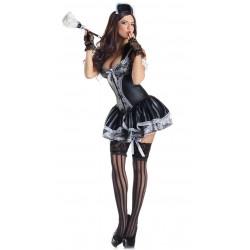 Snygg french maid städerska kostym